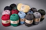 Пряжа полушерстяная Vivchari Semi-Wool, Color No.410 темно-синий, фото 3