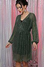 Платье вечернее в зеленом цвете Рузалия