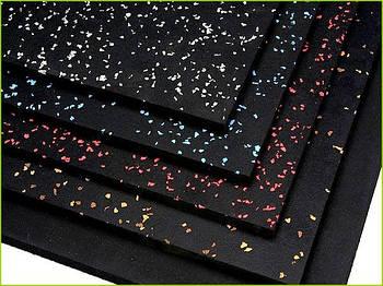 Модульное защитное покрытие для спортивного зала 120х175 см черный/цветной