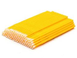 Микробраш для ресниц - Желтый 100 шт (пакет)