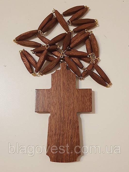 Крест наперстный иерейский, красное дерево, золочение 120х70мм (КР) №2
