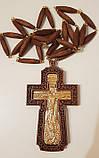 Крест наперстный иерейский, красное дерево, золочение 120х70мм (КР) №2, фото 2