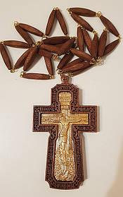 Хрест наперстный иерейский, червоне дерево, позолота 120х70мм (КР) №2