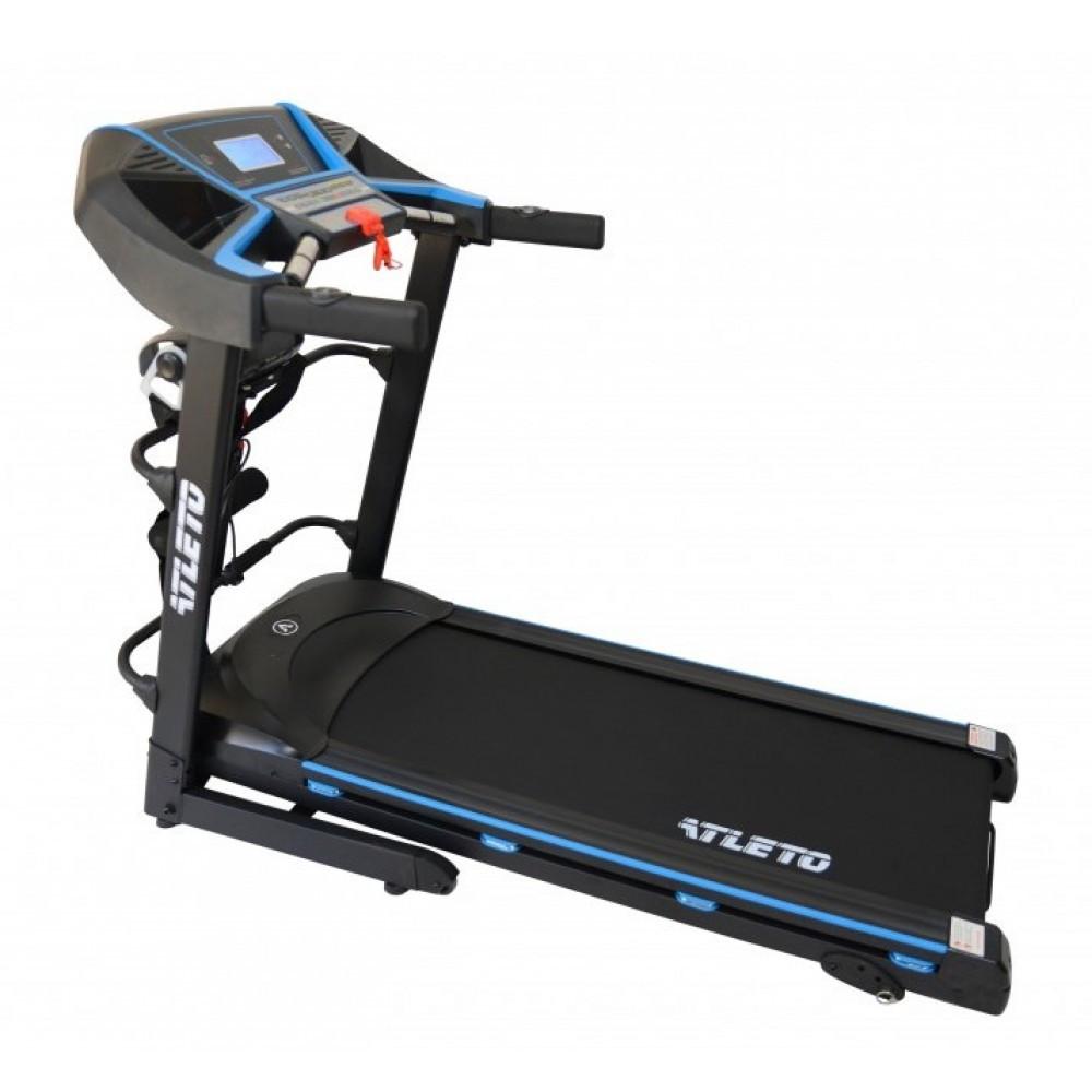 Беговая дорожка с массажером изменением угла наклона двумя гантелями и максимальной нагрузкой до 120 кг