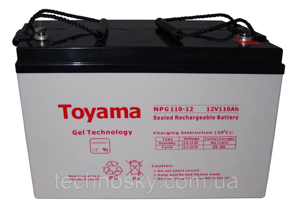 Гелевая батарея Toyama NPG 110-12 (12В , 110Ач)