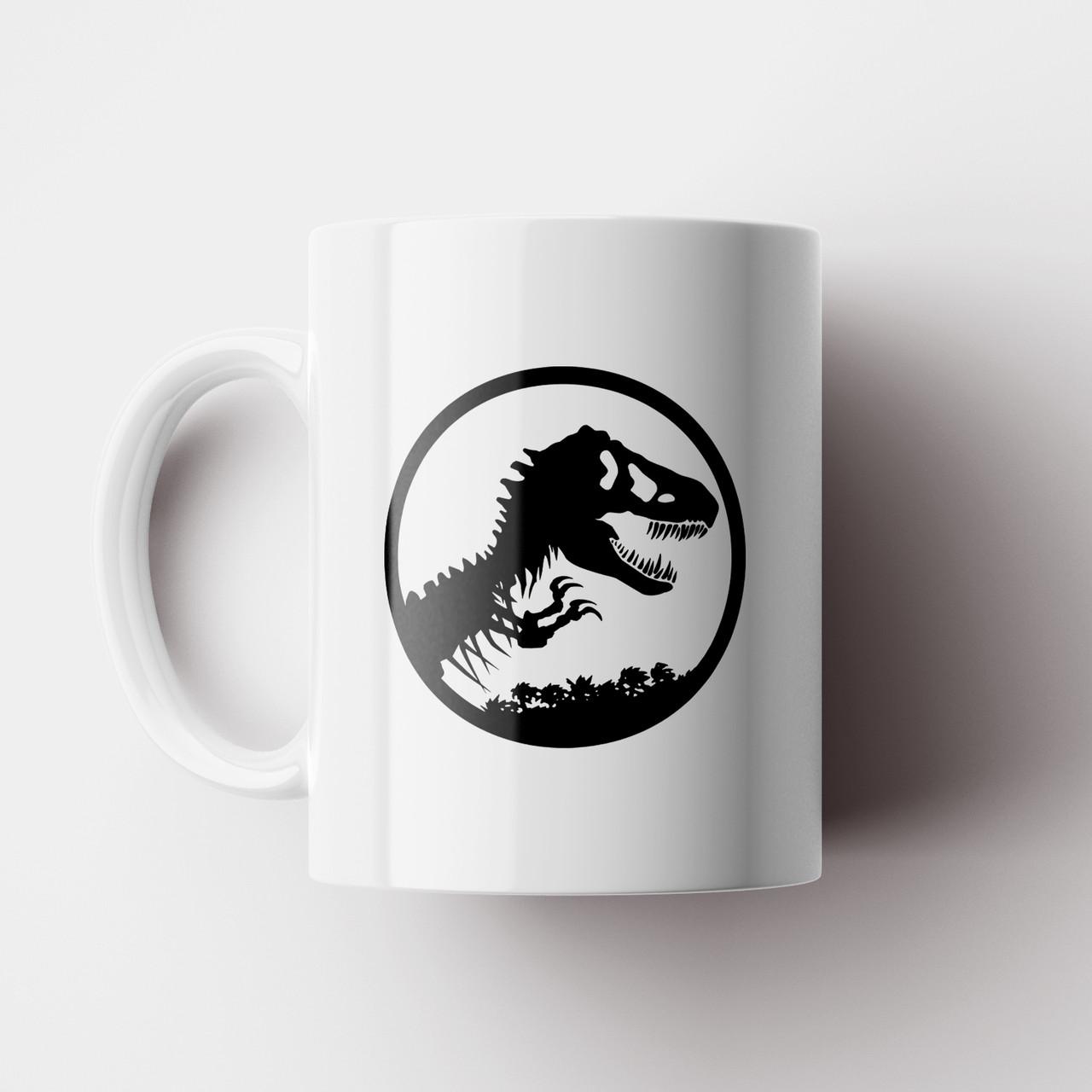Чашка з принтом Парк Юрського Періоду black. Чашка з фото