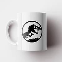 Чашка з принтом Парк Юрського Періоду black. Чашка з фото, фото 1