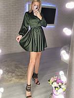 Женское нежное платье из шелка с имитацией на запах (Норма), фото 2
