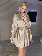 Женское нежное платье из шелка с имитацией на запах (Норма), фото 5