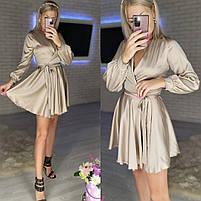 Жіноче ніжне плаття з шовку з імітацією на запах (Норма), фото 2