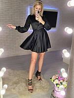 Жіноче ніжне плаття з шовку з імітацією на запах (Норма), фото 4