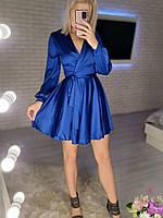 Жіноче ніжне плаття з шовку з імітацією на запах (Норма), фото 5