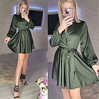 Жіноче ніжне плаття з шовку з імітацією на запах (Норма), фото 7