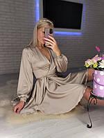 Жіноче ніжне плаття з шовку з імітацією на запах (Норма), фото 9