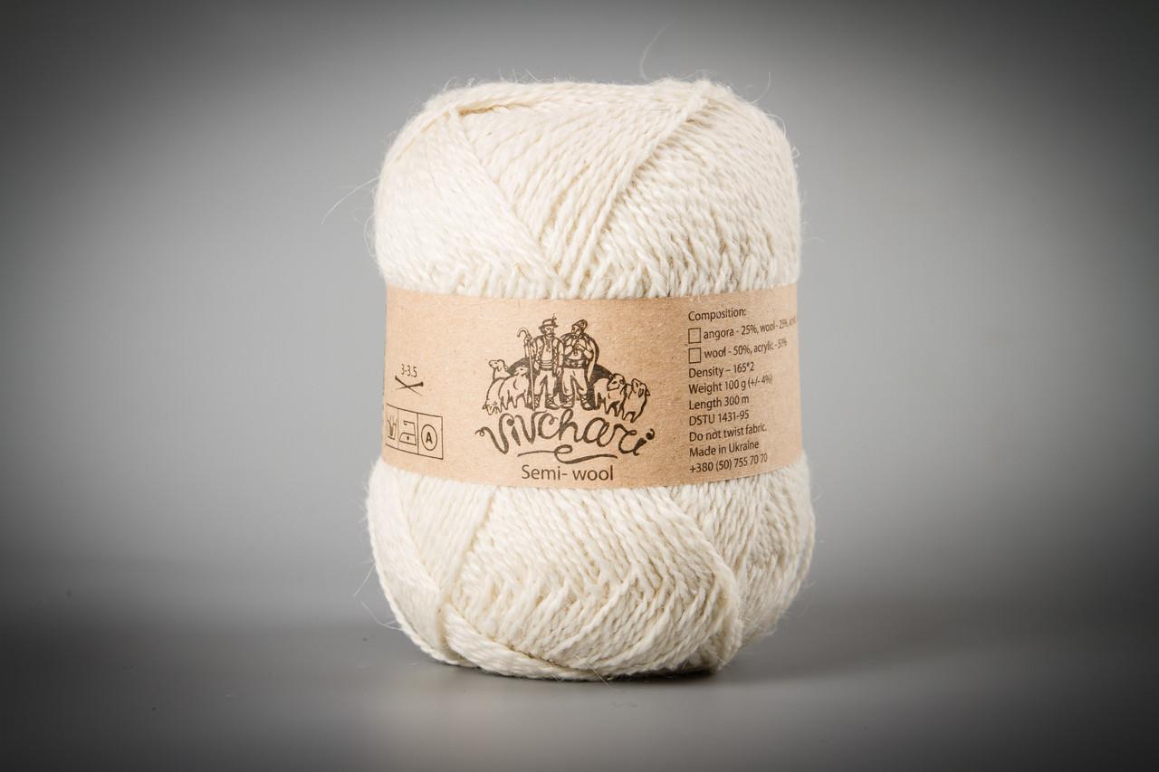 Пряжа с ангорой Vivchari Semi-Wool Angora, Color No.301 суровый