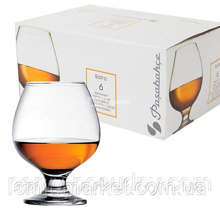 Набор бокалов для коньяка Pasabahce Bistro 400 мл 6 шт, фото 2