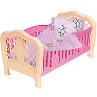 Кроватка для куклы игрушечная Технок 4494 (Розовая)