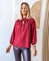 Женская легкая блузка на пуговицах больших размеров, фото 1