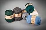 Пряжа с ангорой Vivchari Semi-Wool Angora, Color No.306 антрацит, фото 2