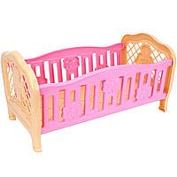 Кроватка игрушечная для куклы Технок 4517 (Розовая)