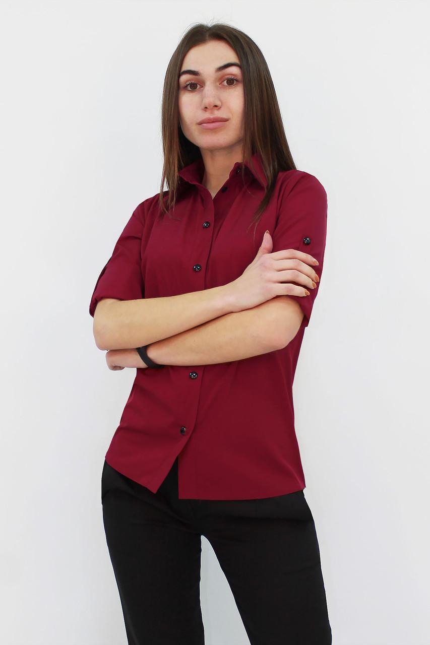 Классическая женская рубашка Ivory, марсала