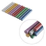 Комплект кольорових перламутрових клейових стрижнів 11.2 мм*100мм, 12шт INTERTOOL RT-1029, фото 3