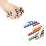 Комплект кольорових перламутрових клейових стрижнів 11.2 мм*100мм, 12шт INTERTOOL RT-1029, фото 4