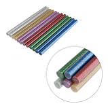 Комплект цветных перламутровых клеевых стержней 11.2мм*200мм, 12шт INTERTOOL RT-1035, фото 3