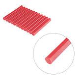 Комплект красных клеевых стержней 11.2мм*100мм, 12шт. INTERTOOL RT-1041, фото 3