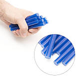 Комплект голубых клеевых стержней 11.2мм*100мм, 12шт. INTERTOOL RT-1052, фото 4