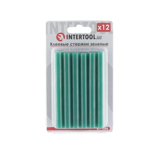 Комплект зелених клейових стрижнів 11.2 мм*100мм, 12шт. INTERTOOL RT-1056