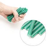 Комплект зелених клейових стрижнів 11.2 мм*100мм, 12шт. INTERTOOL RT-1056, фото 4