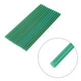 Комплект зелених клейових стрижнів 7.4 мм*200мм, 12шт. INTERTOOL RT-1059, фото 3