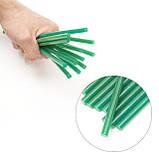 Комплект зелених клейових стрижнів 7.4 мм*200мм, 12шт. INTERTOOL RT-1059, фото 4