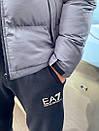 Мужская стеганая куртка с карманами по бокам, и контрастными вставками на плечи., фото 4