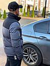 Мужская стеганая куртка с карманами по бокам, и контрастными вставками на плечи., фото 3