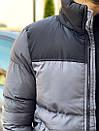 Мужская стеганая куртка с карманами по бокам, и контрастными вставками на плечи., фото 5