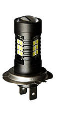 (цена за 1 штуку) Светодиодная лампа LED H7 21SMD 3030 12W 420лм  ДХО, противотуманки