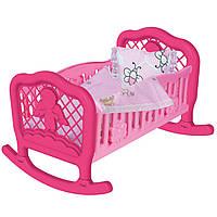 Игрушечная кроватка Колыбель для куклы Технок 4524 (Розовая)