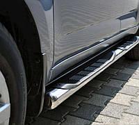 Peugeot Partner Tepee 2008-2018 гг. Боковые трубы (2 шт., нерж.) 60мм