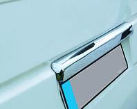 Volkswagen T4 Transporter Хром над номером (нерж) Распашные двери. Carmos - Турецкая сталь