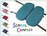 Подушка детская ортопедическая для сидения School Comfort Correct Shape, синий, фото 9