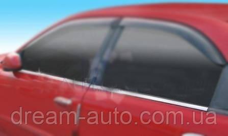 Chevrolet Lanos Окантовка окон (4 шт, нерж)