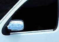 Renault Kangoo 1998-2008 гг. Накладки на зеркала (2004-2008, 2 шт) OmsaLine - Итальянская нержавейка