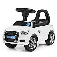 Каталка-толокар Audi Bambi M 3147A(MP3)-1 Белый | Машинка толокар Бемби с MP3