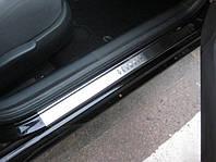 Skoda Octavia Tour A4 Накладки на пороги Натанико (4 шт, нерж) Premium - лента 3М, 0.8мм, фото 1