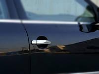 Skoda Octavia A5 2006-2010 гг. Накладки на ручки (4 шт, нерж) OmsaLine - Итальянская нержавейка
