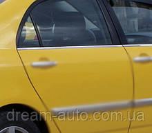 Toyota Corolla 2002-2007 рр. Зовнішня окантовка вікон (4 шт., нерж.)