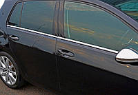 Volkswagen Jetta 2011-2018 гг. Нижние молдинги стекол OmsaLine (6 шт, нерж.)  Хром