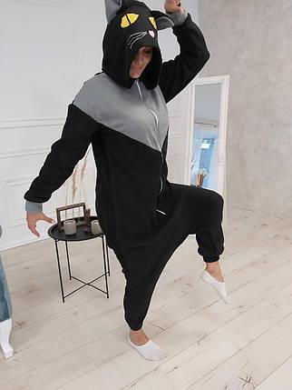 Пижама Кигуруми Черный кот для всей семьи, фото 2